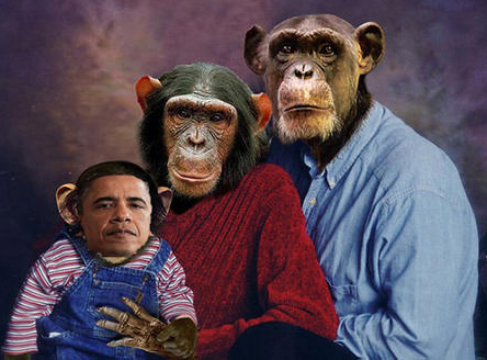 Obama and Chimp